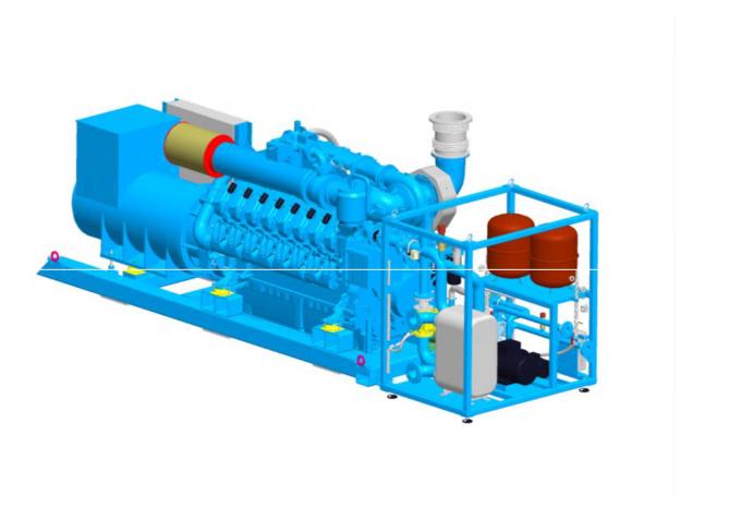 MTU燃气发电机组1.5MW燃气机组图片